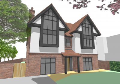 Contemporary 5000sq.ft house for private client