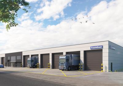 Work starts on site at TruckEast Crick depot in Northampton
