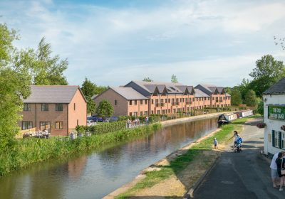 19 canal-side houses construction progressing well